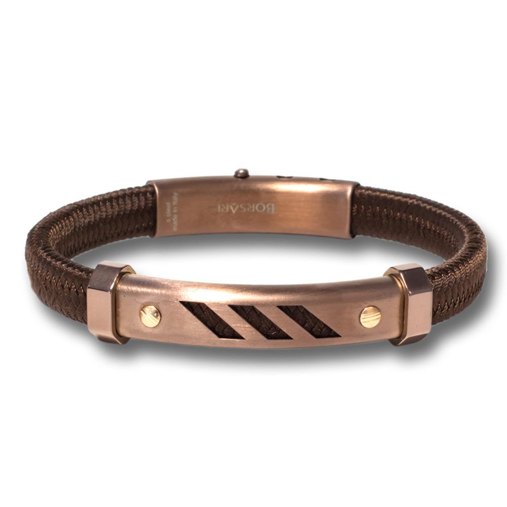 Bruine stalen armband