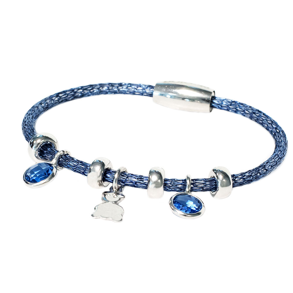 Col.Blu rubberen armband