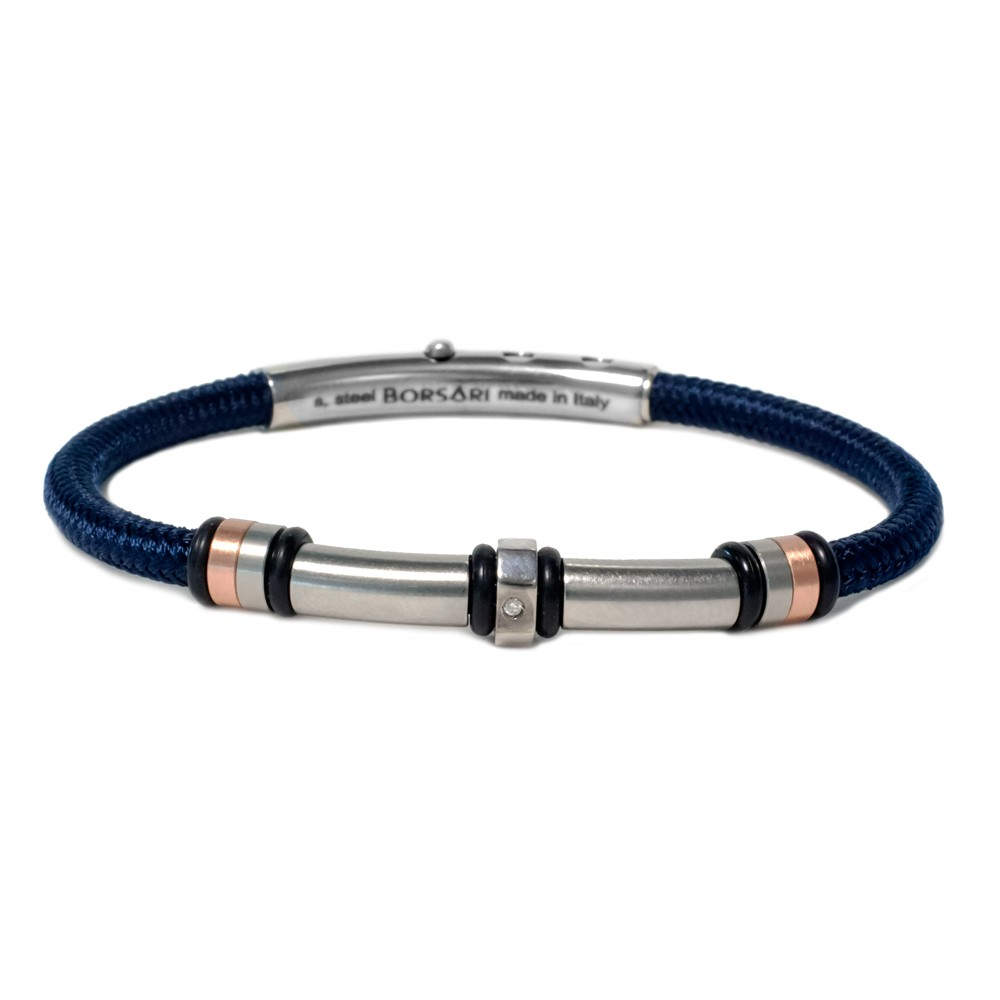 store bracelet brass leather unit on products blue navy the hook