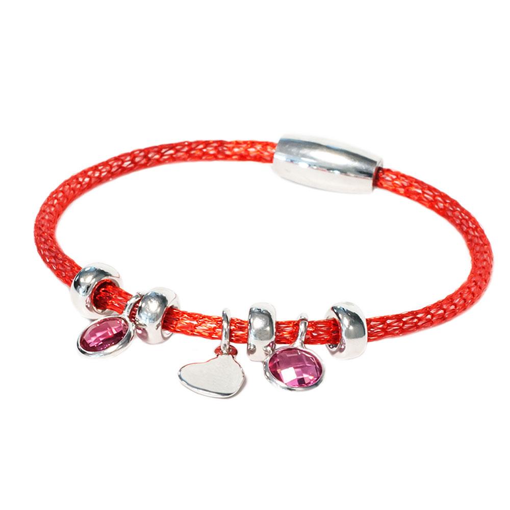 Rubberen gekleurde armband kristallen