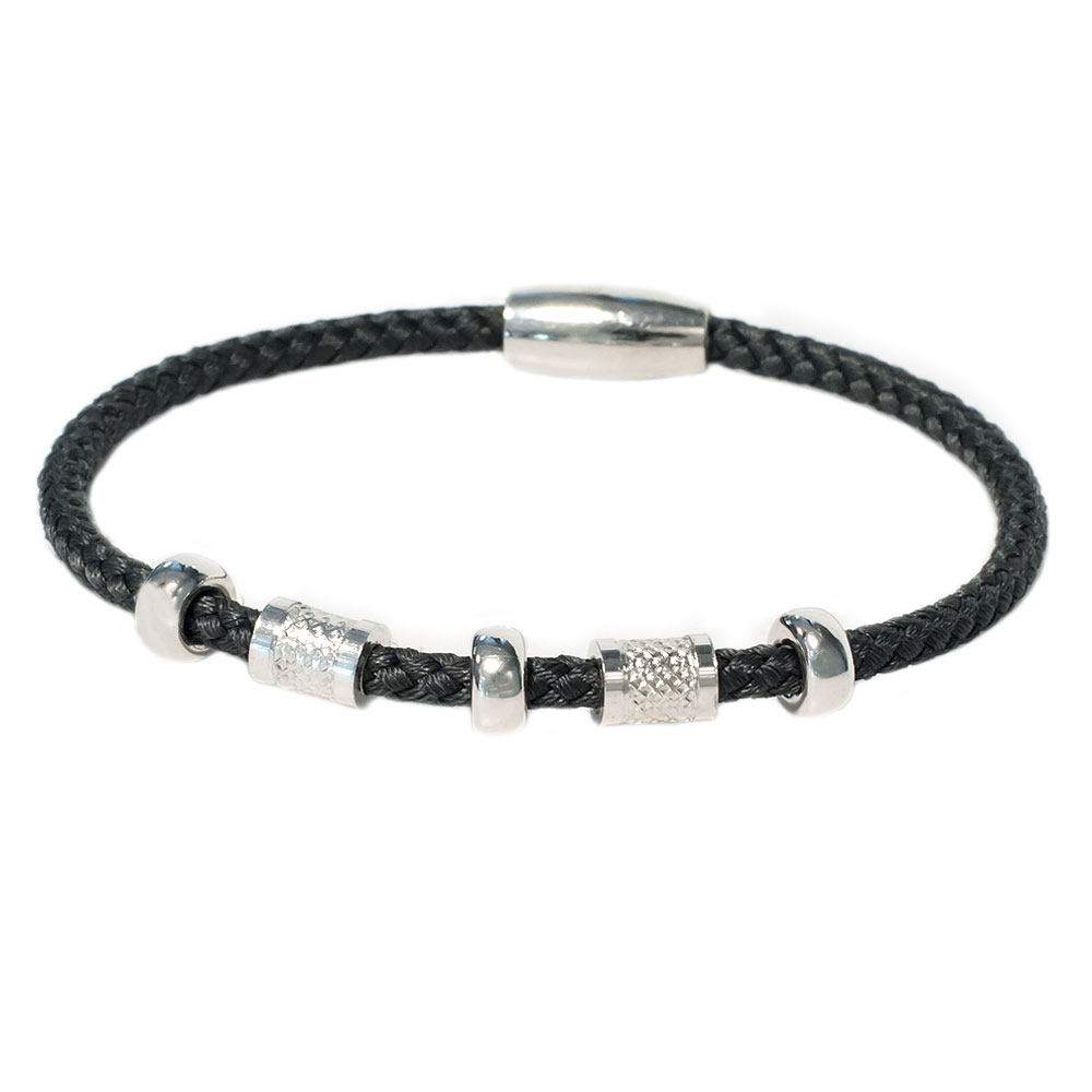 Zilveren titanium armband
